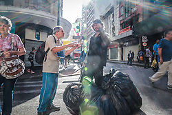 Moradores de rua no centro de Porto Alegre. Foto: Jefferson Bernardes/ Agência Preview