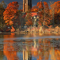 Wellesley College, showing its iconic Galen Stone Tower and the William S. Houghton Memorial Chapel on a beautiful afternoon in late New England fall. Autumn foliage colors and the historic building are reflected in a calm Lake Waban. Wellesley College is a private, women's, liberal-arts college located in the town of Wellesley, Massachusetts and it is ranked the third best liberal arts college in the United States. Notable alumnae include Hillary Clinton, Madeleine Albright, Soong Mei-ling, Cokie Roberts, and Diane Sawyer. It's most famous student is Hillary Rodham Clinton, Class of 1969. Hillary Rodham Clinton is currently running for president of the United States aiming to make history and becoming the first female US president. <br /> <br /> Wellesley College photos are available as museum quality photography prints, canvas prints, acrylic prints or metal prints. Prints may be framed and matted to the individual liking and room decor needs:<br /> <br /> http://juergen-roth.pixels.com/featured/wellesley-college-juergen-roth.html<br /> <br /> Good light and happy photo making! <br /> <br /> My best, <br /> <br /> Juergen <br /> Image Licensing: http://www.RothGalleries.com <br /> Fine Art Prints: http://fineartamerica.com/profiles/juergen-roth.html <br /> Photo Blog: http://whereintheworldisjuergen.blogspot.com <br /> Twitter: https://twitter.com/naturefineart <br /> Facebook: https://www.facebook.com/naturefineart <br /> Instagram: https://www.instagram.com/rothgalleries