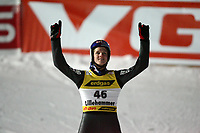Hopp, 10. mars 2006 , Ski-jumping , Verdenscup Lillehammmer, <br />  Thomas Morgenstern , Austria, Bjørn Einar Romøren , Norway and Andreas Kofler , Austria
