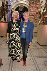"Ellen von Unwerth and Philip Treacy at the opening of ""Frida Kahlo: Making Her Self Up"" Exhibition at the V&A Museum, London England. 13 June 2018."