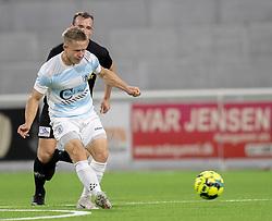 Jeppe Kjær (FC Helsingør) under kampen i 1. Division mellem FC Helsingør og Vendsyssel FF den 18. september 2020 på Helsingør Stadion (Foto: Claus Birch).