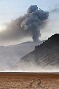 Eyjafjallajökull erupting volcano, south Iceland