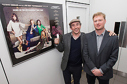 "© Licensed to London News Pictures . FILE PICTURE DATED 22/04/2013 . Cornerhouse Cinema , Oxford Road , Manchester , UK . STEVE COOGAN and writer MATT GREENHALGH attend a preview screening of new film "" The Look of Love "" in Manchester , UK , this evening (Monday 22nd April 2013) . Coogan damaged the nail on his thumb following an accident when closing a window , he said . He plays the lead as club impresario Paul Raymond. Photo credit : LNP"