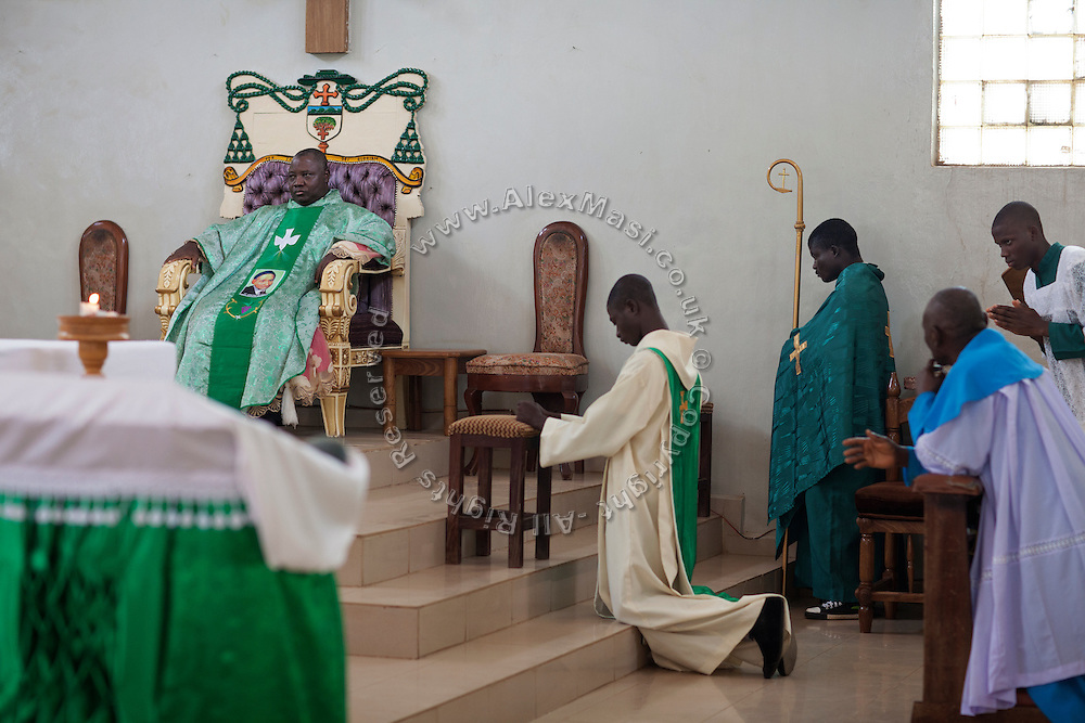 The Archbishop of Jos, Ignatius Kaigama, 54, is celebrating a Mass Service at the Christian Catholic Cathedral Of Our Lady Fatima in Jos, Plateau State, Nigeria.