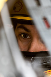 October 5, 2018 - Dover, DE, U.S. - DOVER, DE - OCTOBER 05: Joey Logano sits in his #22 Shell Pennzoil Ford prior to Friday's practice for the Monster Energy NASCAR Cup Series Gander Outdoors 400 on October 05, 2018, at Dover International Speedway in Dover, DE. (Photo by David Hahn/Icon Sportswire) (Credit Image: © David Hahn/Icon SMI via ZUMA Press)
