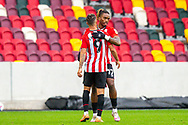 GOAL 2-0 Brentford forward Ivan Toney (17) scores and celebrates with Brentford midfielder Emiliano Marcondes (9) during the EFL Sky Bet Championship match between Brentford and Preston North End at Brentford Community Stadium, Brentford, England on 4 October 2020.
