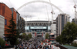 General view of Wembley stadium before the Premier League match at Wembley Stadium, London.