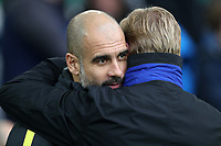 Football - 2016 / 2017 Premier League - Everton vs. Manchester City<br /> <br /> Manchester City Manager Pep Guardiola and Everton manager Ronald Koeman at Goodison Park.<br /> <br /> COLORSPORT/LYNNE CAMERON