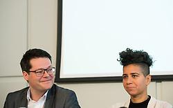 """21.03.2019, Presseclub Concordia, Wien, AUT, Präsentation des Rassismusreports 2018 vm Verein ZARA - Zivilcourage und Anti-Rassismus-Arbeit, im Bild Stadtrat Jürgen Czernohorszky (SPÖ) und Faika El-Nagashi (Grüne) // during an media briefing with presentation of the """"racism report 2018"""" in Vienna, Austria on 2019/03/21, EXPA Pictures © 2019, PhotoCredit: EXPA/ Michael Gruber"""