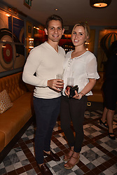 Scott Gardner and Cecilia Rollen at the opening of The Ivy Cobham Brasserie, Cobham, Surrey, England. 31 May 2017.