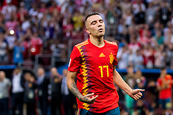 July 1, 2018 - Moscow, Russia - 180701 Iago Aspas of Spain looks dejected after the penalty shoot-out during the FIFA World Cup round of 16 match between Spain and Russia on July 1, 2018 in Moscow..Photo: Petter Arvidson / BILDBYRN / kod PA / 92080 (Credit Image: © Petter Arvidson/Bildbyran via ZUMA Press)