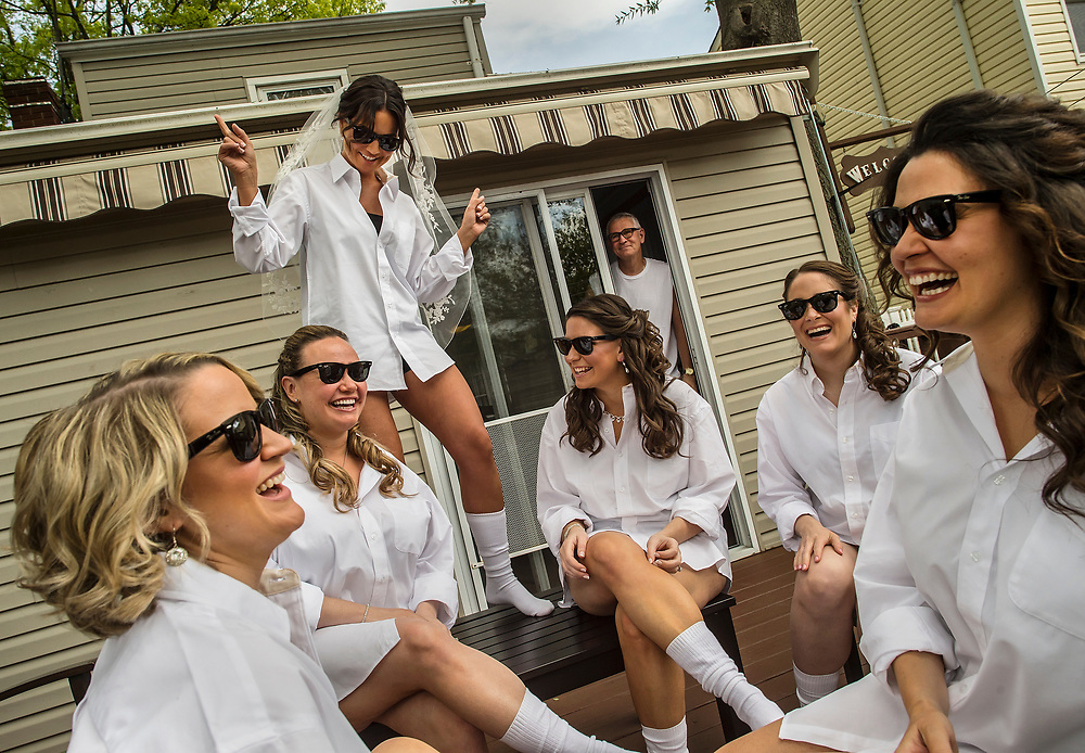 A bride and her bridesmaids in Keansburg and at the DoubleTree by Hilton Hotel Tinton Falls - Eatontown.