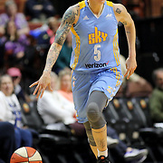 UNCASVILLE, CONNECTICUT- MAY 05: Jacki Gemelos #5 of the Chicago Sky of the Chicago Sky in action during the Atlanta Dream Vs Chicago Sky preseason WNBA game at Mohegan Sun Arena on May 05, 2016 in Uncasville. (Photo by Tim Clayton/Corbis via Getty Images)