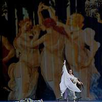 Members of the turkish Fire of Anatolia or Andolu Atesi dance group led by Mustafa Erdogan perform their piece Troy in Budapest, Hungary on March 08, 2011. ATTILA VOLGYI