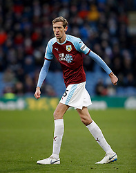 Burnley's Peter Crouch during the Premier League match at Turf Moor, Burnley.