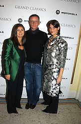 Left to right, VANESSA WINGATE, designer GILES DEACON and KATRINA PAVLOS at the Grand Classics screening of Manhattan hosted by Giles Deacon at the Electric Cinema, Portobello Road, London W11 on 13th November 2006.<br /><br />NON EXCLUSIVE - WORLD RIGHTS
