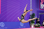 Laura Zeng during final at hoop in Pesaro World Cup at Virtifrigo Arena on may 30, 2021. Laura born on October 14, 1999 in Hartford. She is a rhythmic gymnast member of the USA National Team.