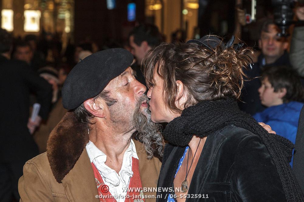 NLD/Amsterdam/20150306 - Boekenbal 2015, Ilja Gort en partner Caroline d' Hollosy
