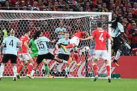 gol Ashley Williams goal <br /> Lille 01-07-2016 Stade Pierre Mauroy Football Euro2016 Wales - Belgium / Galles - Belgio <br /> Quarter-finals. Foto Matteo Gribaudi/Image Sport/ Insidefoto