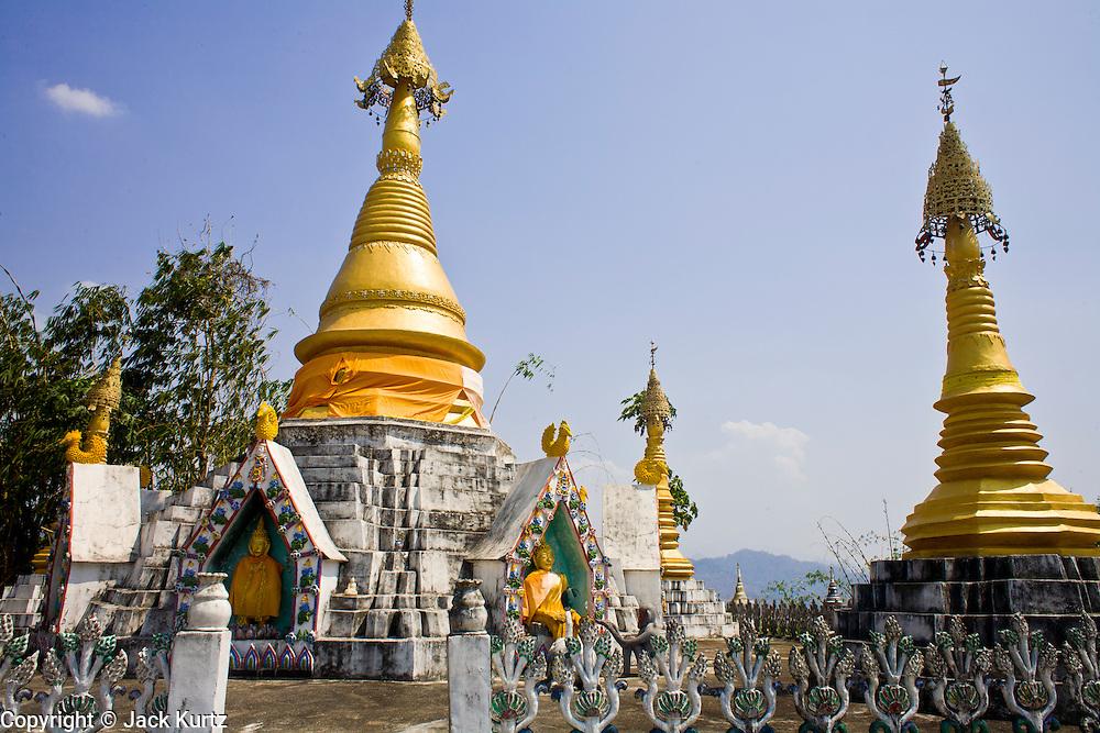 19 FEBRUARY 2008 -- SANGKLABURI, KANCHANABURI, THAILAND: A Buddhist Wat (Temple) in Sangklaburi, Thailand.  Photo by Jack Kurtz