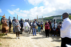South Africa - Cape Town - 30 - September - 2020  Dido Valley land claimants, beneficiaries to celebrate their heritage at   Construction site, corner of Scala and Dido Valley Roads in Simonstown, Dido Valley. City's Mayoral Committee Member for Human Settlements, Councillor Malusi Booi, the Luyolo land claimants, the Redhill beneficiaries and other dignitaries,  visited the R170 million Dido Valley housing development.The City and beneficiaries mark the end of Heritage Month. The City is committed to enabling redress and restitution through providing housing opportunities to qualifying beneficiaries who will be empowered as first-time property owners. Photographer Ayanda Ndamane /African News Agency (ANA)