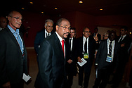 6th IAS Conference on HIV Pathogenesis, Treatment and Prevention (IAS 2011) Conference in Rome, Italy, held in the Auditorium Parco della Musica..<br /> Photo shows Michel Sidibe (centre).<br /> Photo © Steve Forrest/Workers' Photos