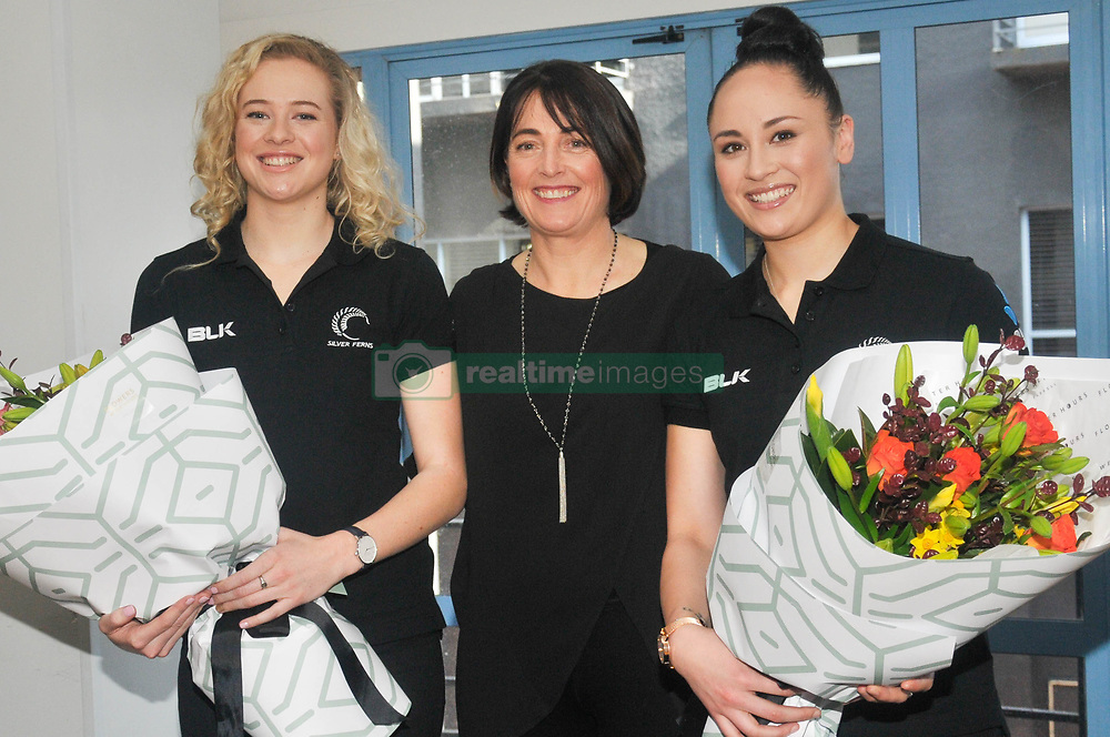 August 7, 2017 - Auckland, New Zealand - Monica Falkner (L) , coach Janine Southby (M) and Whitney Souness pose for a photo ahead of the upcoming Netball Quad Series in Auckland, New Zealand on 7 August 2017 (Credit Image: © Shirley Kwok/Pacific Press via ZUMA Wire)