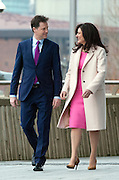 © Licensed to London News Pictures. 15/03/2015. Liverpool, UK Deputy Prime Minister Nick Clegg and his wife Miriam Gonzalez Durantz arrive ahead of his leaders speech. The Liberal Democrat Spring Conference in Liverpool 15th March 2015. Photo credit : Stephen Simpson/LNP
