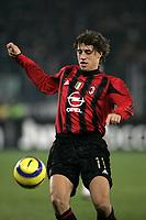 Milano 18-12-2004<br /> Campionato di calcio Serie A 2004-05<br /> Juventus Milan<br /> nella  foto Hernan Crespo<br /> Foto Graffiti