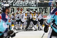 05.03.2011, Rapperswil-Jona, Eishockey NLA, Rapperswil-Jona Lakers - HC Lugano, Die Luganesi jubeln, sie schaffen den Ligaerhalt, die Lakers sind enttaeuscht  (Thomas Oswald/hockeypics)