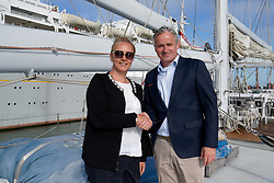 "12-09-2019 NED: Kick-off European Volleyball Men's Championship, Rotterdam<br /> Kick-off for the European Volleyball Men's Championship at the Sailing Ship ""Eendracht"" with The CEV board, municipal officials of the playing cities, Nevobo and Topsport Rotterdam"