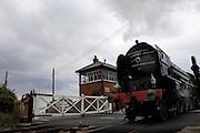 UK, 7 June 2009: The Tornado, a Peppercorn class A1 Pacific steam locomotive, departs Blue Anchor station on the West Somerset Railway. Photo by Peter Horrell / http://peterhorrell.com