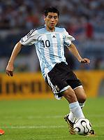 Hamburg 10/6/2006 World Cup 2006<br /> <br /> Argentina Cote d'Ivoire - Argentina Costa d'Avorio 2-1<br /> <br /> Photo Andrea Staccioli Graffitipress<br /> <br /> Juan Riquelme
