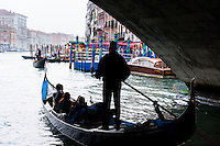 Italy, Venice. The Rialto Bridge.