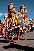 PERU, CUZCO, FESTIVALS Corpus Christi; dancing the 'Cholo'