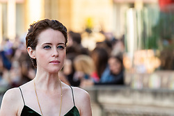 September 24, 2018 - San Sebastian, Spain - Claire Foy attends the 'First Man' Red Carpet during the 66th San Sebastian International Film Festival on September 24, 2018 in San Sebastian, Spain. (Credit Image: © Manuel Romano/NurPhoto/ZUMA Press)