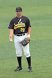 06 July 2013:  Ryan Lashley during a Frontier League Baseball game between the Gateway Grizzlies and the Normal CornBelters at Corn Crib Stadium on the campus of Heartland Community College in Normal Illinois
