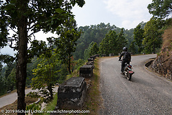 Gary Thomas riding a Royal Enfield Himalayan on Motorcycle Sherpa's Ride to the Heavens motorcycle adventure in the Himalayas of Nepal. Riding from Chitwan to Daman. Tuesday, November 12, 2019. Photography ©2019 Michael Lichter.