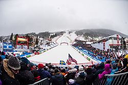 February 9, 2019 - …Re, SWEDEN - 190209 General view from the stands ahead of the men's downhill during the FIS Alpine World Ski Championships on February 9, 2019 in Ã…re..Photo: Joel Marklund / BILDBYRÃ…N / kod JM / 87853 (Credit Image: © Joel Marklund/Bildbyran via ZUMA Press)