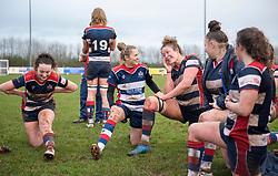 Amelia Buckland-Hurry of Bristol Ladies wipes away a tear after defeating league leaders Harlequins Ladies - Mandatory by-line: Paul Knight/JMP - 03/02/2018 - RUGBY - Cleve RFC - Bristol, England - Bristol Ladies v Harlequins Ladies - Tyrrells Premier 15s