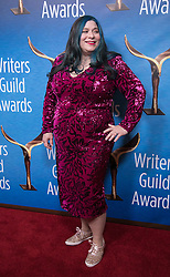 February 17, 2019 - Beverly Hills, California, U.S - Ariella Blejer in the red carpet of the 2019 Writers Guild Awards at the Beverly Hilton Hotel on Sunday February 17, 2019 in Beverly Hills, California.  JAVIER ROJAS/PI (Credit Image: © Prensa Internacional via ZUMA Wire)