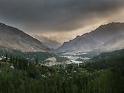 View over the Hunza valley - nicknamed the Shangri-La of Pakistan. Karakoram mountains.