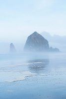 Haystack Rock in Cannon Beach, OR.