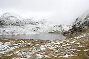 Romania, Snow covered mountain