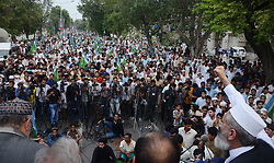 July 31, 2017 - Lahore, Punjab, Pakistan - Senator SIRAJUL HAQ, leader of Jamaat-e-Islami Pakistan addressing to (Azam-e-Ehtsab March) a public gathering at Mall Road in Lahore. (Credit Image: © Rana Sajid Hussain/Pacific Press via ZUMA Wire)