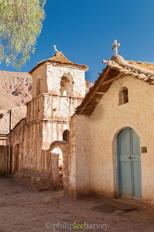 Church in the Village on the Rio Grande, Antogagasta, Atacama Desert, Chile, South America