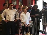 Democratic state Rep Mark Rozzi and state Senator Judy Schwank, Mi Casa, Su Casa restaurant, Reading, Berks Co., PA