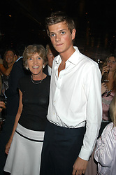LADY JANE SPENCER-CHURCHILL and her son the HON.ALEXANDER SPENCER-CHURCHILL at a party hosted by Frankie Dettori, Marco Pierre White and Edward Taylor to celebrate the launch of Frankie's Italian Bar & Grill at 3 Yeoman's Row, London SW3 on 2nd September 2004.