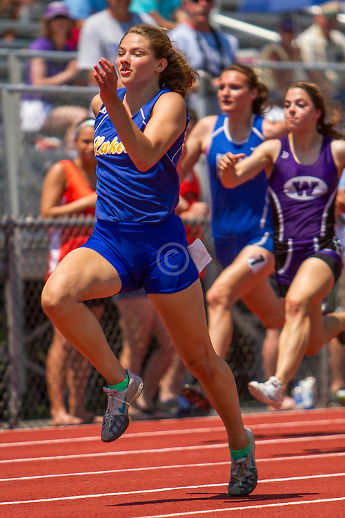 Kate Hall, Lakes Region HS, girls 100 meters; Maine State Track & Field Meet - Class B