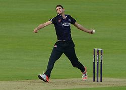 David Payne of Gloucestershire bowls - Photo mandatory by-line: Dougie Allward/JMP - Mobile: 07966 386802 - 15/05/2015 - SPORT - Cricket - Bristol - Bristol County Ground - Gloucestershire County Cricket v Middlesex County Cricket - NatWest T20 Blast